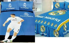 real madrid or ronaldo bedsheet super single 1 2m 3902
