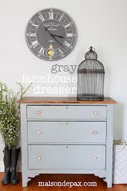 gorgeous gray farmhouse dresser makeover using country chic paint in pebble beach at maisondepax com