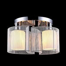 Lightess Led Deckenleuchte Stoff Modern Rund Lampenschirm Stoffschirm Deckenlampe Deckenbeleuchtung 2x E27 Leuchtennicht Erhalten Für Wohnzimmer