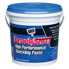 exterior joint compound. dap crackshot 128-oz white spackling exterior joint compound