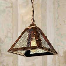 edison pendant light 1 light aged copper pendant lamp with screened shade bulb included free edison pendant light