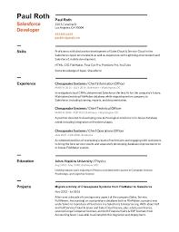 Salesforce Experienced Resumes Resume Salesforce 1sheet