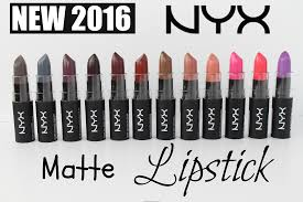 swatches new 2016 nyx matte lipsticks all 12 shades