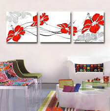 canvas art print red flower set of 3 modern wall pictures for living room floral canvas wall art print poster for wall decor in painting calligraphy from  on flower wall art prints with canvas art print red flower set of 3 modern wall pictures for living