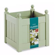 afk classic wooden planter sage 18in loading zoom