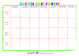 monthly meal planner template monthly meal planner template happycart co