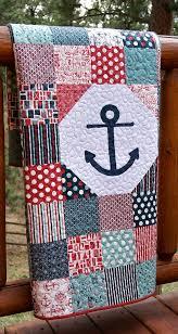 Quilt Baby Toddler Anchor Nautical Crib Nursery by PiecesOfPine ... & Quilt Baby Toddler Anchor Nautical Crib Nursery by PiecesOfPine Adamdwight.com