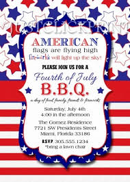 4 th of invitation wording for text bbq red white blue fourth printable simple with