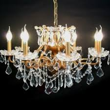 maison lighting. 8 branch gold shallow cut glass chandelier maison lighting