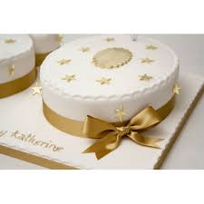 Gold Stars 50 Numbers Cake