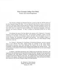 1993-1994 West Georgia College Fact Book