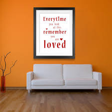remember you are loved word art print  canvas wall art print