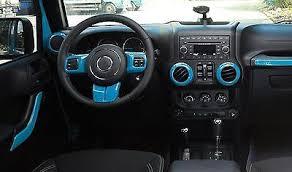 12pcs interior decoration trim kit for jeep wrangler 2011 2018 4 door light blue
