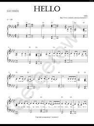 Piano Sheet Music Hello Adele Piano Sheet For Future