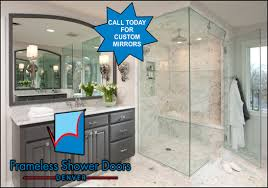 local glass company in denver lakewood englewood littleton centennial colorado we service repair and install framless custom glass shower doors