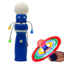 Autism Light Up Toys Hundred Powers Light Up Orbiter Spinning Wand Toys Led Electronic Spin Toy Light Up Wand Boys Girls Moon Jelly Spinner Toy Buy Toddlers Fun