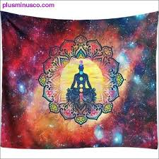 7 chakra wall hangings are back! Starry Night Galaxy Decor Psychedelic Tapestry Wall Hanging Indian Mandala Tapestry Hippie Chakra At Plus Minus Co