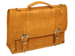 8442 tooled leather briefcase