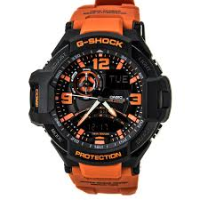 casio ga1000 4a men 039 s g shock black ana digi dial orange cloud zoom small image