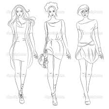 Small Picture Free coloring pages of fashion design models Fashion