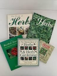 herb gardening books guides x5 yates