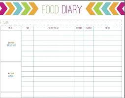 Food Tracker Spreadsheet Template Excel Diet Download Weekly