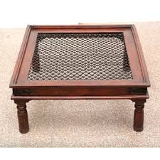 wooden large jali deesign coffee table