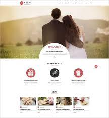 Wedding Website Templates Simple 28 Wedding Website Themes Templates Free Premium Templates