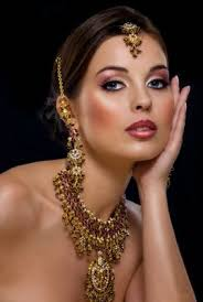 beautiful bridal romantic makeup with nice work of make up foundations like dark fancy and stylish lips make up with lip stick and have nice eyeliner for