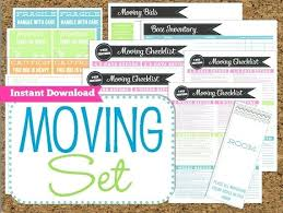 Free Printable Moving Checklist Free Printable Moving Checklist And Planner Instant Download