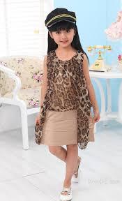 Girls Designer Outfits Splendid Patchwork Leopard Print Girl Designer Dress