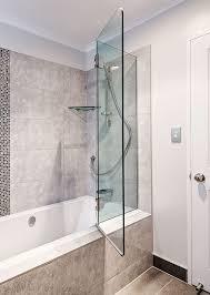 frameless glass bath screen folding bath screen