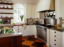 Small French Kitchen Design Kitchen Traditional Country Kitchen With Scheckered Floor And