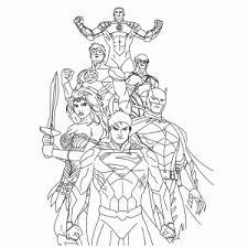 Justice League Of America Kleurplaten Leuk Voor Kids