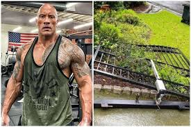 Wow this caught me off guard a bit. Actor Dwayne Johnson Rips Front Gate Off After It Stops Him From Going To Work Entertainment News Top Stories The Straits Times