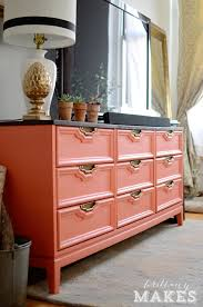 10 Painted Dressers You Can\u0027t Miss   Coral dresser, Dresser and Behr
