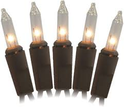 Clear Christmas Lights With Brown Cord Vine Lights 2270 02 50lt Mini Bw Light Set Clear