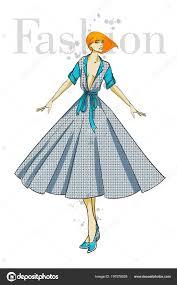 мода иллюстрация стильные модели девушка моды эскиз девушка платье