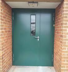 school doors. Steel Doorset For School Kitchen Doors