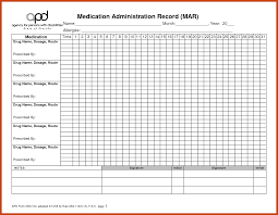 019 Daily Medication Schedule Template Awful Ideas Excel