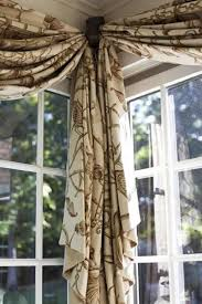 Corner window treatment idea | But could do this on a long window putting a  cornice