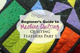 Beginner's Guide to Machine Quilting: Quilting Feathers, Part 1 - & How to Quilt Feathers Adamdwight.com
