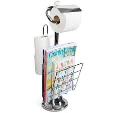 Toilet Roll Holder Magazine Rack Spacious Toilet Paper Caddy With Magazine Racks 34