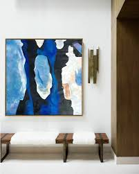 extra large painting oversized blue