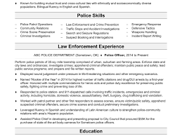 Police Officer Resume Examples Resume Template Federal Law Enforcement Samples Format Cover 46