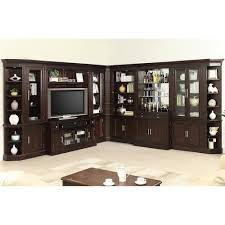 Wall Shelving Units For Bedrooms Classy Parker House Stanford Wall Unit With Bar And TV Console Howell