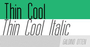Thin Cool Font Dafont Com