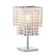 zuo falling stars 16 1 in chrome table lamp