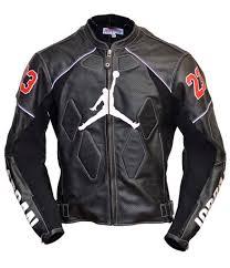 Jordan Leather Jacket Leather Motorbike Jacke