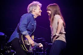 Jon bon jovi has been married to dorothea hurley for 20 years, and the couple have four children together. Jon Bon Jovi Dances With Daughter Stephanie On Stage People Com